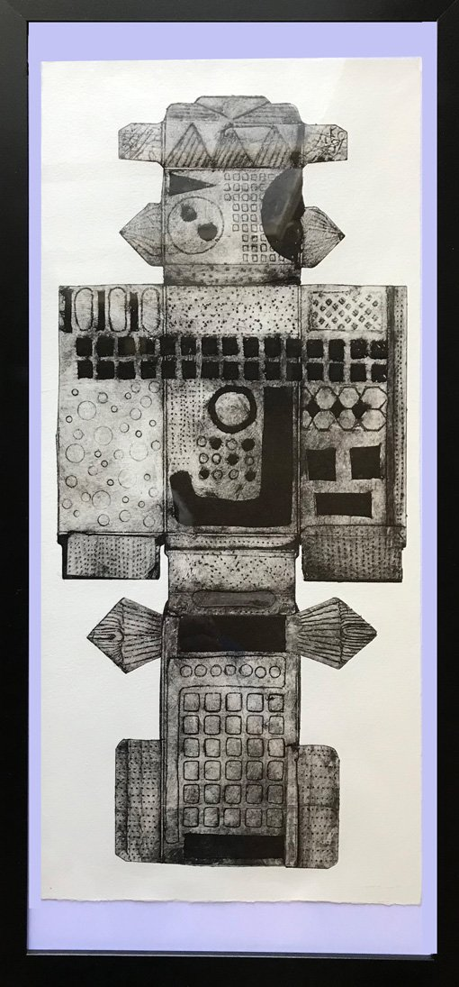 Banks Robyn | 2021 | Licorice Box | Drypoint on inside of licorice box | 52x25cm