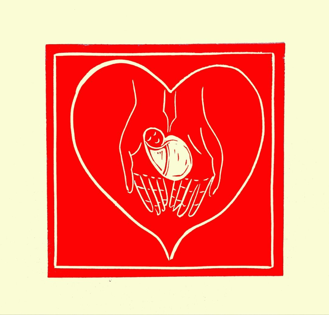 Patricia O'NEIL | Hand In Hand | Linocut Relief | 2021